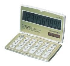 Калькулятор 10 разр. CITIZEN складной карманный