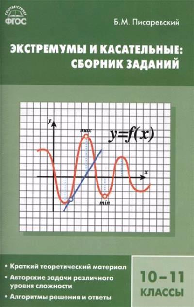 Алгебра 10-11 кл.: Экстремумы и касательные: Сборник заданий ФГОС