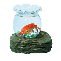Аквариум с морскими обитателями, 1 оранж. крабик, элек