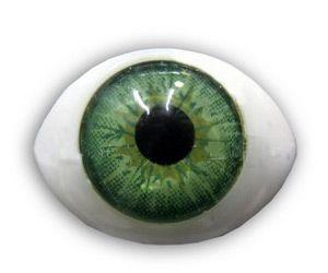 Глазки 10шт для кукол зеленые 15*11мм