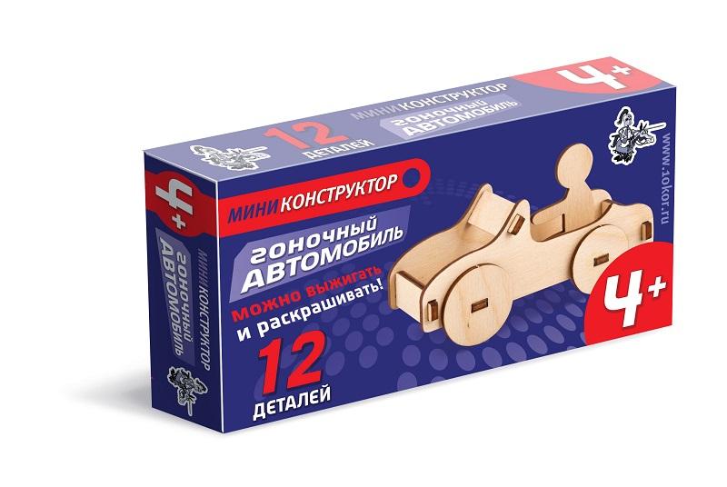 Конструктор деревянный Гоночный автомобиль мини 12 дет.