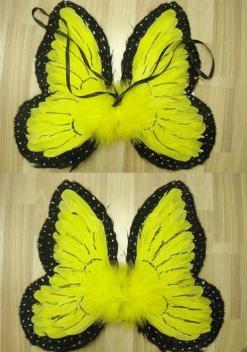 НГ Карнавальные крылья Бабочка (черно-желтые)