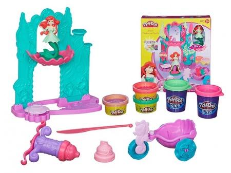 Play-Doh Замок и карета Ариэль + пластилин