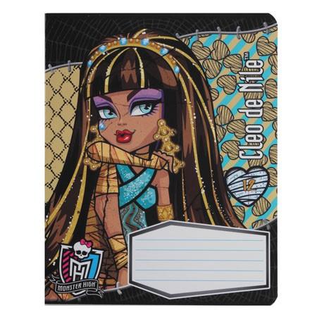 Тетрадь 12л клетка Monster High
