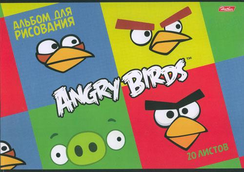 Альбом д/рис 20л Angry Birds