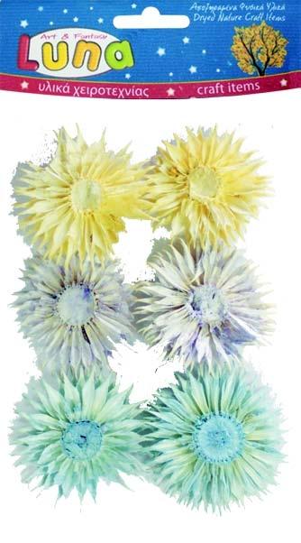 Сухоцветы декоративные 3 цвета 6 шт.