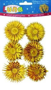 Сухоцветы декоративные Цветы желтые 12 шт.