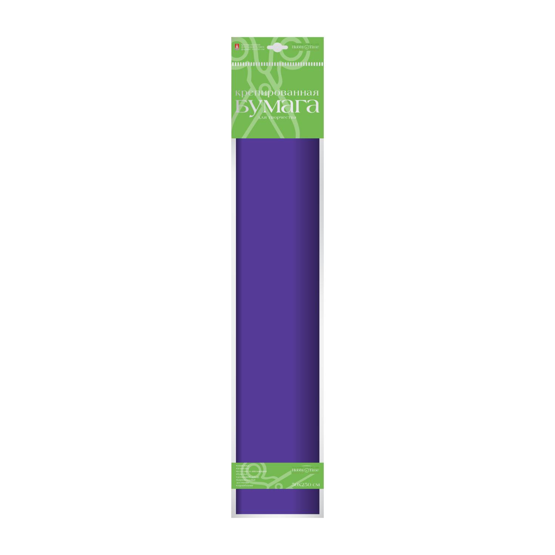 Бумага гофрированная 50*250 фиолетовая