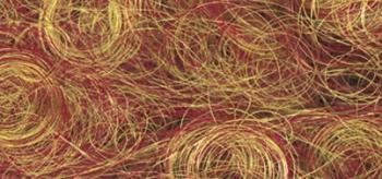 Волосы для кукол синтетические 17г/уп Золотистый красный