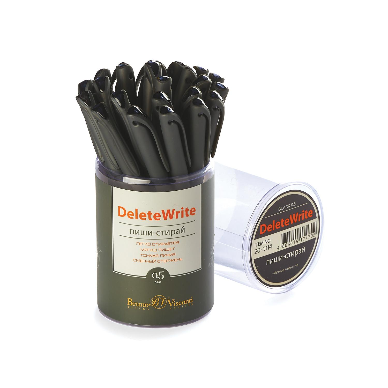 Ручка гелевая Пиши-стирай черная Bruno Visconti 0,5мм