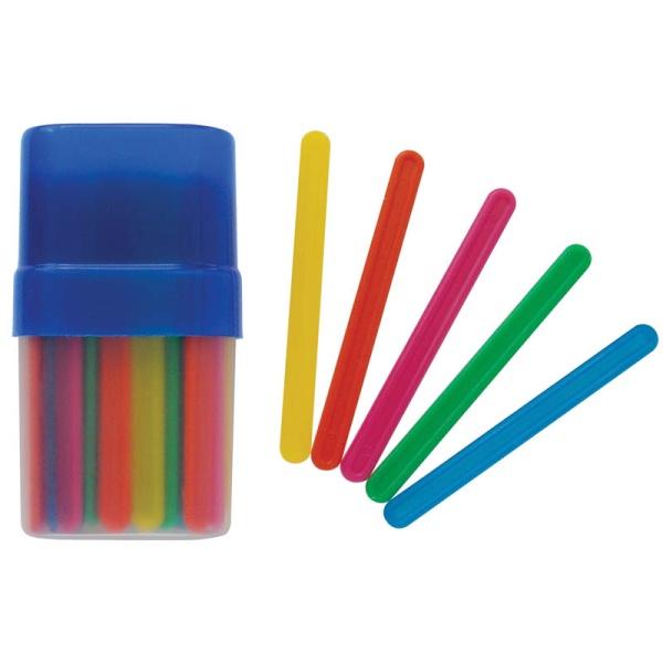 Счетные палочки 50шт цветные в пенале