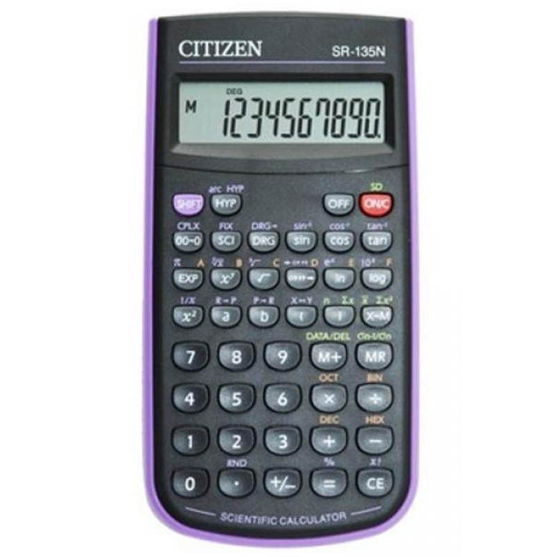 Калькулятор 10 разр. CITIZEN научный 128 функций (фиолетовый)