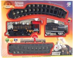 """Железная дорога """"Первый поезд"""" 14 дет., свет, звук, дым, на батарейках"""