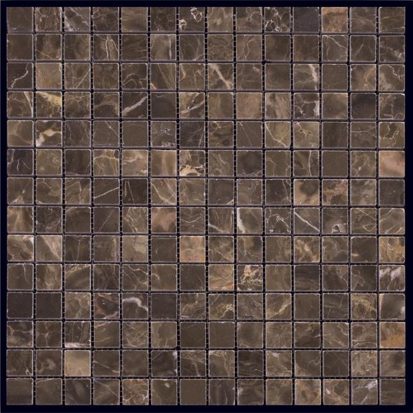 Мозаика 10*10мм Мраморная Оттенки коричневого 190шт