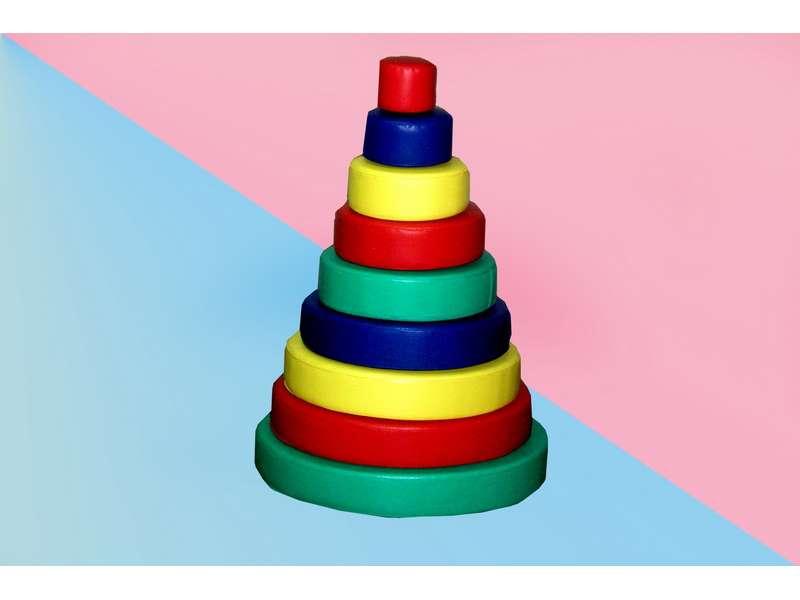 Мягкий модуль Пирамида круглая