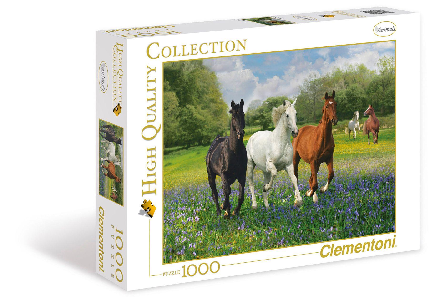 Пазл 1000 Clementoni 39255 Лошади на лугу