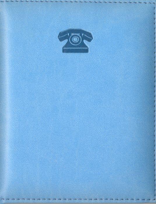 Телефонная книжка 7,5*10,5 Виннер голубая