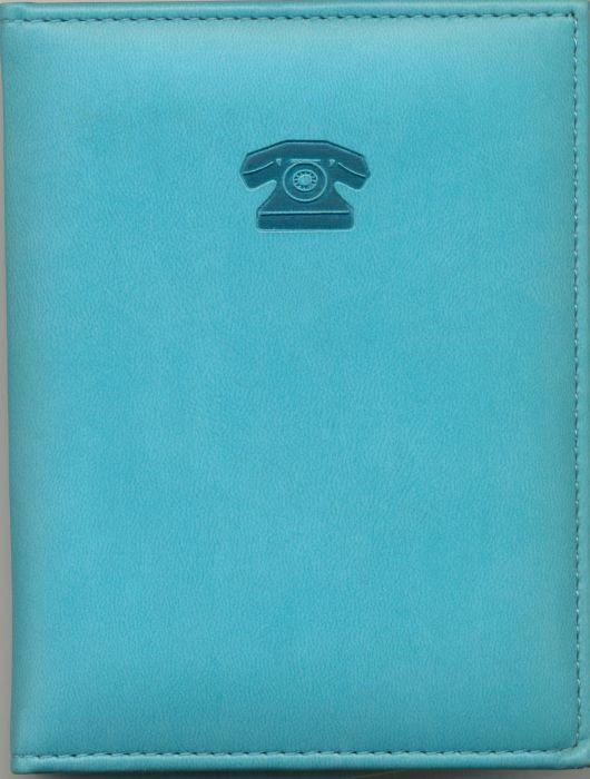 Телефонная книжка 7,5*10,5 Виннер бирюзовая