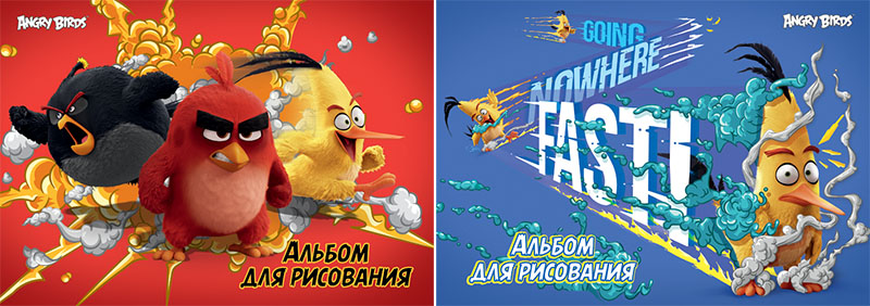 Альбом д/рис 20л Angry Birds склейка