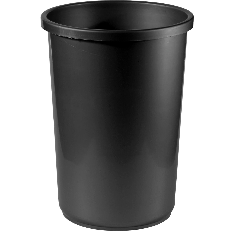Корзина д/бумаг 12л цельная круглая черная