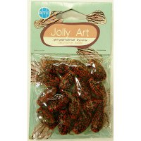 Бусины Jolly Art Красно-черные бочонки