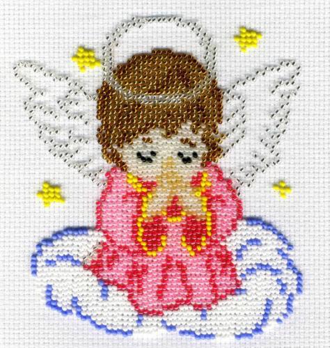 Вышивка бисером 14х12 Ангелок