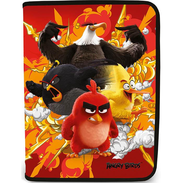 Папка для тетрадей A4 Angry Birds на молнии