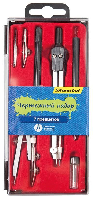 Готовальня 7пр Silwerhof Джинсовая коллекция пластик пенал