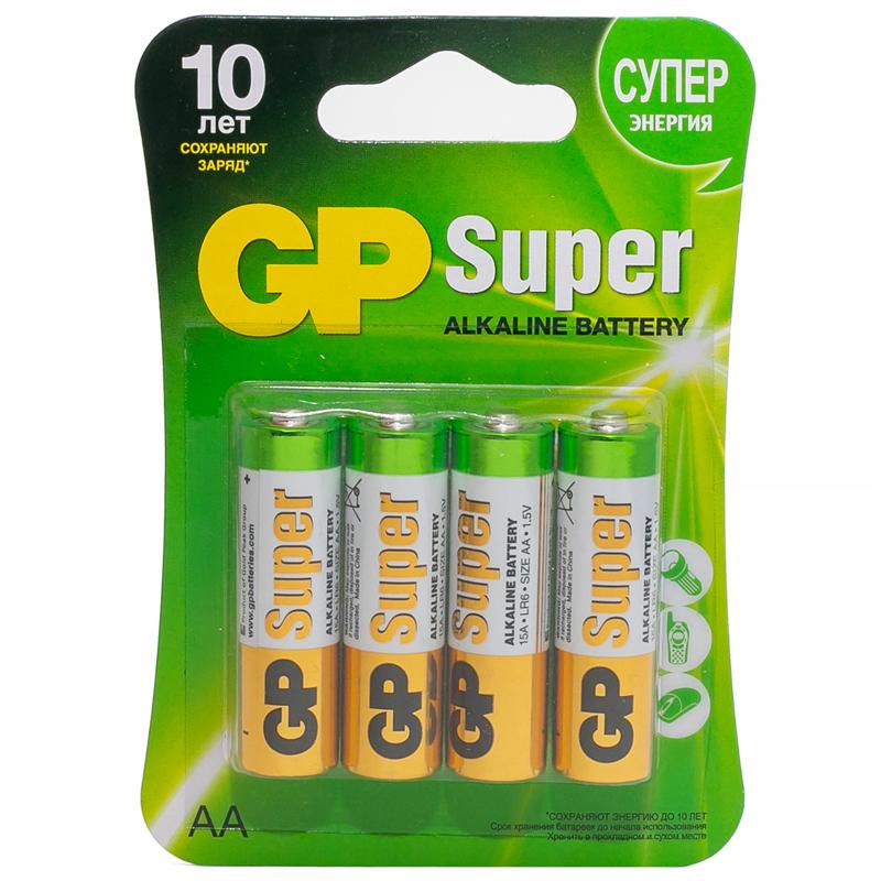 Батарейка GP Super Alkaline 15A BC4  АА LR6 (1ШТУКА) пальч