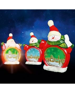 НГ Сувенир Снеговик с подсветкой керамический