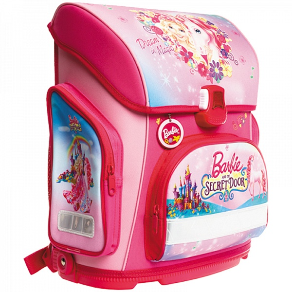 Рюкзак Hatber Barbie ортопед розовый Барби и Единорог