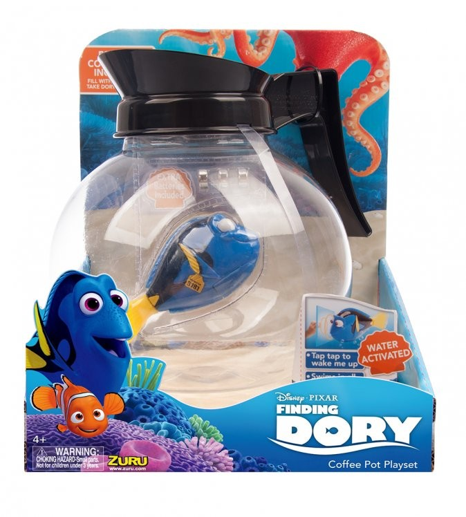 набор Роборыбка Дори и аквариум-кофейник пластмас. на батар.