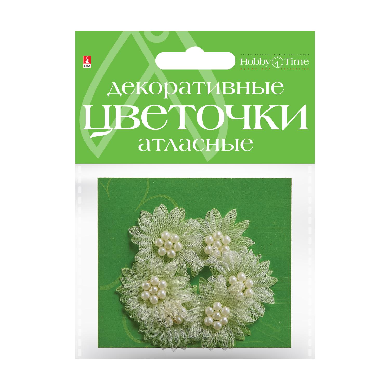 Декор Цветочки Атласные №4
