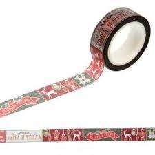 """Клейкая лента """"Christmas diary"""", 1,5см х10м"""