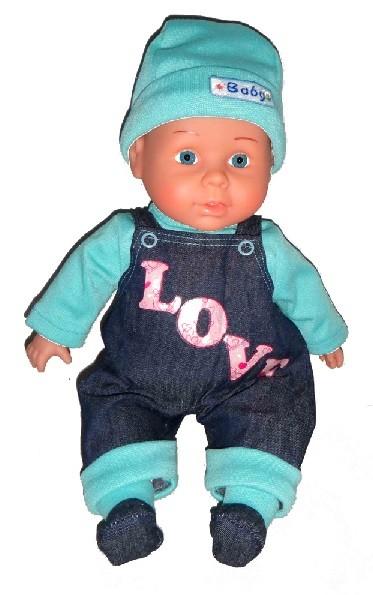 Интерактивная Кукла 40см. говорит, поет, рассказывает стихи (голубой