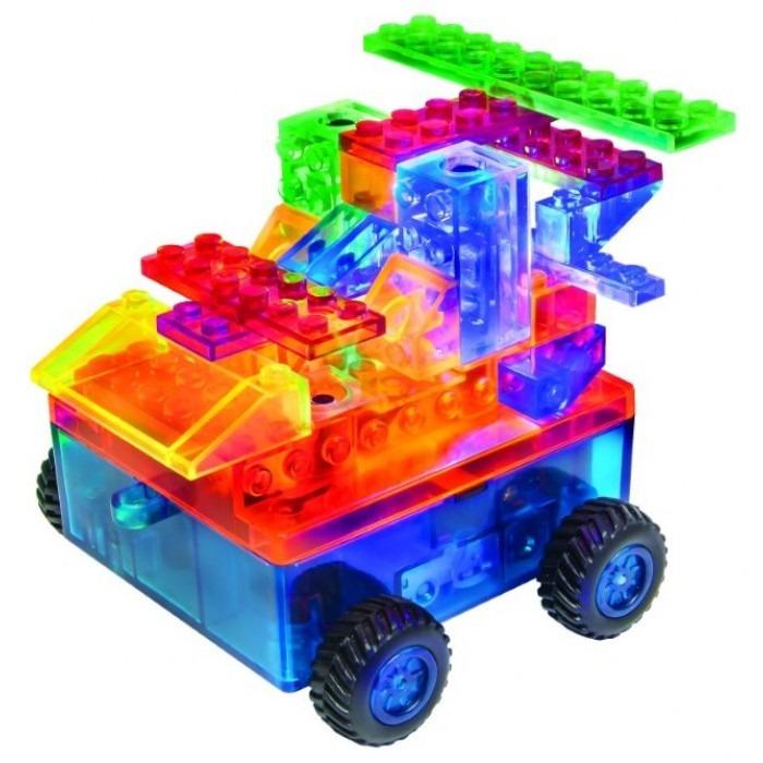 Конструктор Laser Pegs Светящиеся Военная машина с цвет. дет. 8 в 1 пла