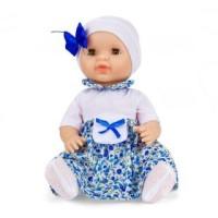 Кукла Пупс Бритни в платье и белой шапке с бантиком 37см.