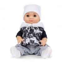 Кукла Пупс Матвейка в черно-белом костюме 37см.