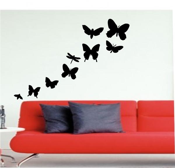 Набор Н-8950 Красивая бабочка наклейки для стен на двусторон скотче