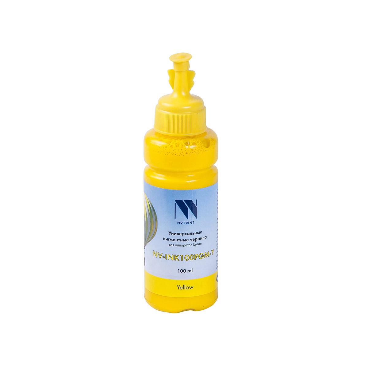 Чернила NV универсальные пигментные INK100PGM Yellow