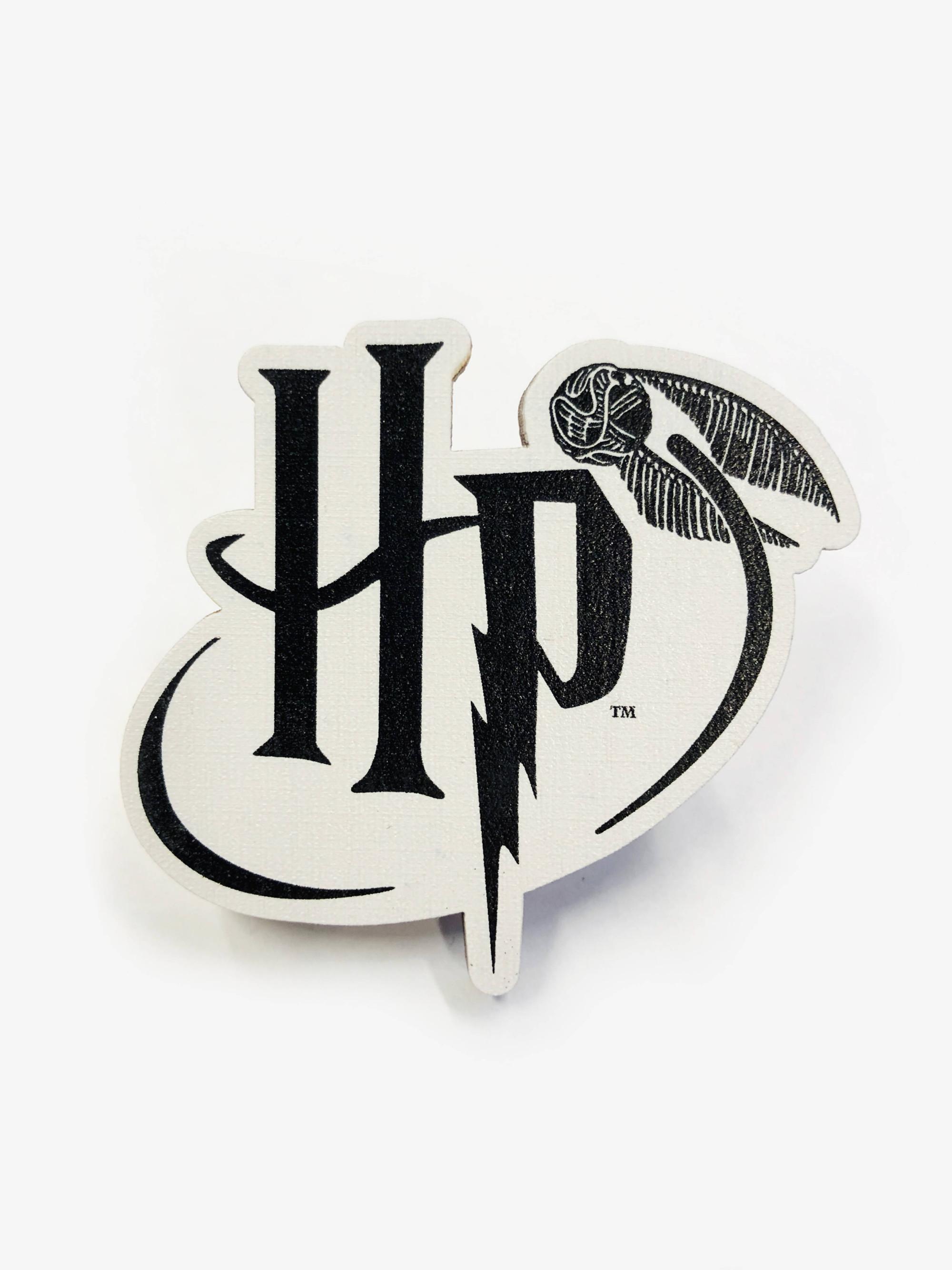 Сувенир Деревянный значок. Гарри Поттер