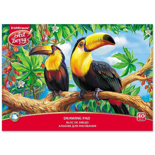 Альбом д/рис 40л Экзотические птицы