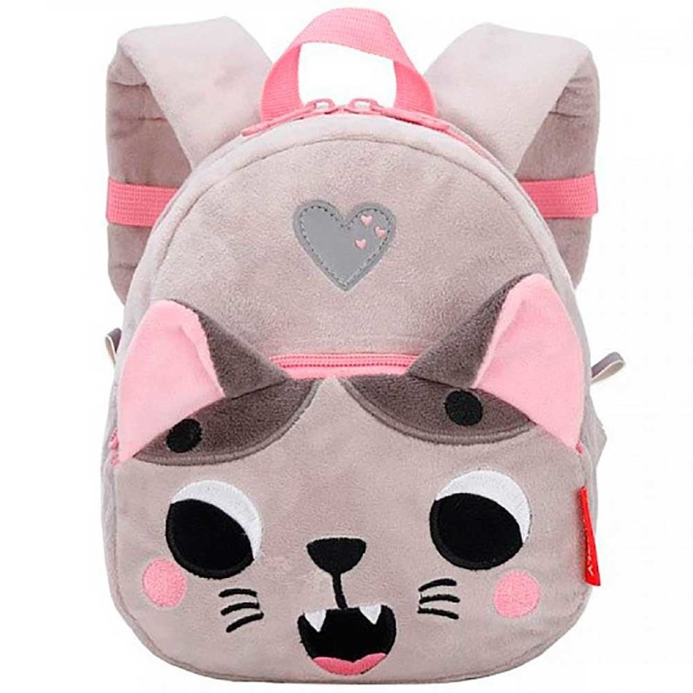 Рюкзак детский Grizzly Котенок серый
