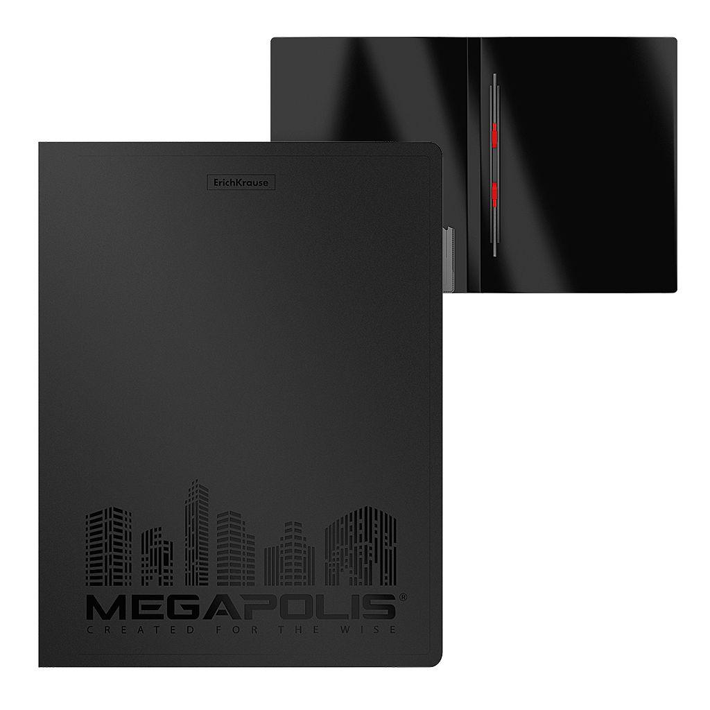 Папка-скоросшиватель EK Classic черная на пружине