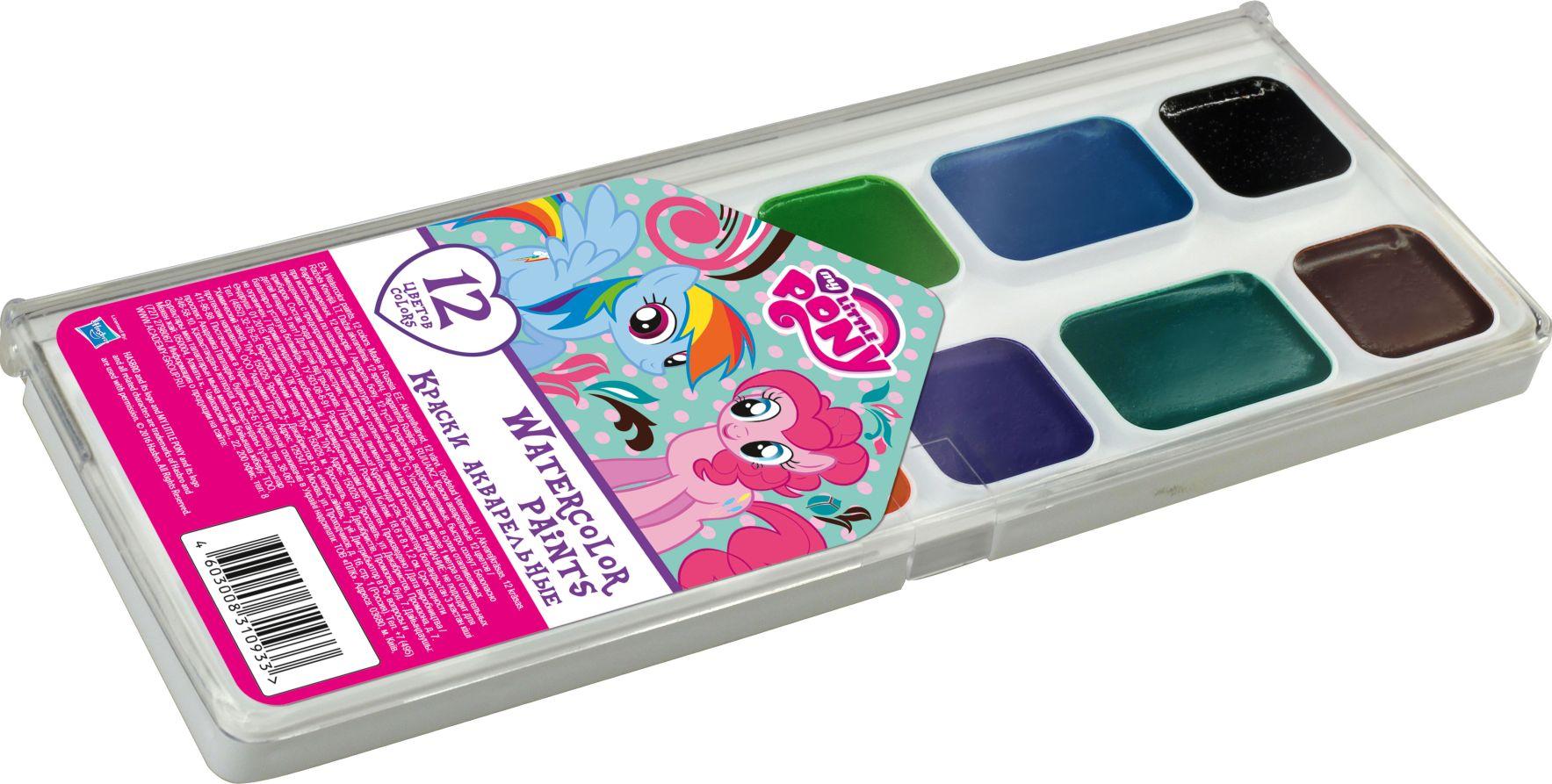 Краски 12цв My Little Pony
