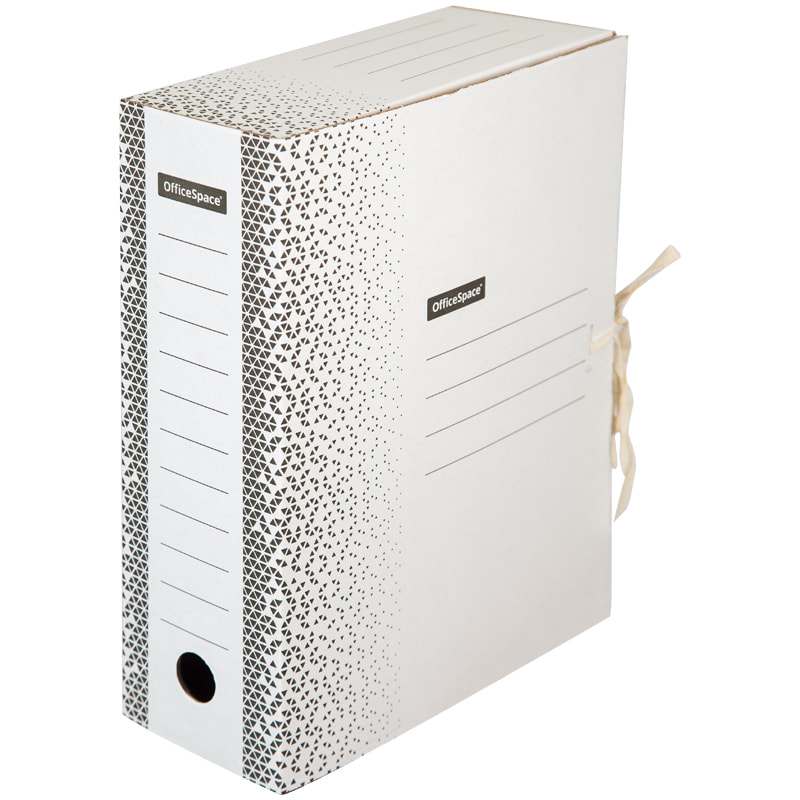 Папка архивная 100мм на завязках белая микрогофрокартон (короб)
