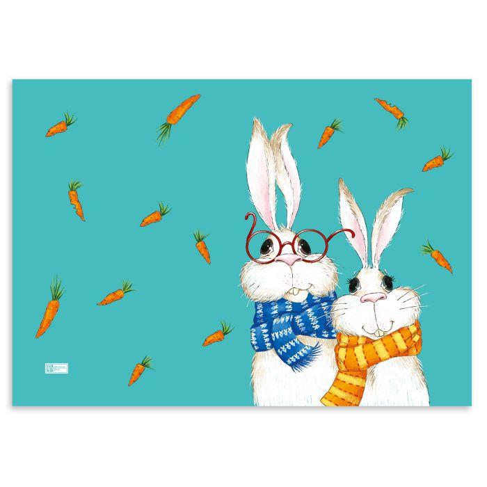 Пленка цветная для уроков труда 50*70 см. Кролики ПВХ