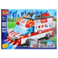 Конструктор Машина скорой помощи (свет, звук, мотор) 48дет.