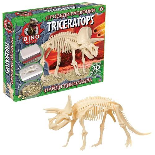 Набор для исследования Проведи раскопки (Трицератопс) Dino World
