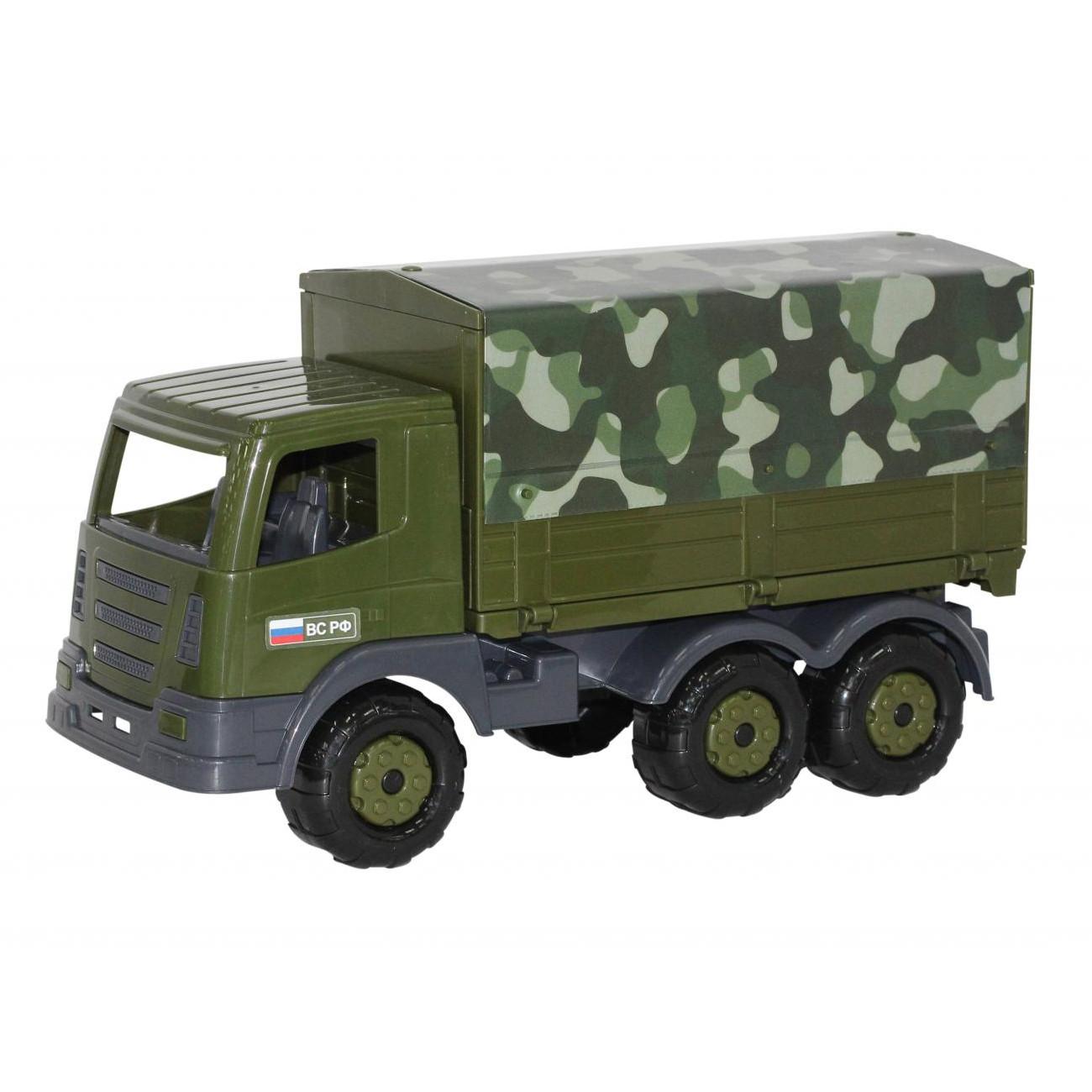 Автомобиль бортовой тентовый военный Престиж пластм.39см